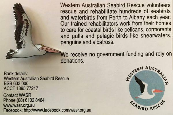 WA Seabird Rescue Pelican Pin